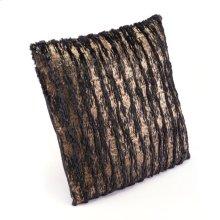 Metallic Waves Pillow Black & Gold