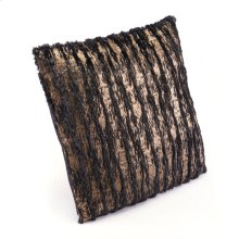 Metallic Waves Pillow Black & Gold