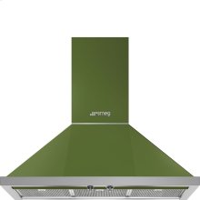 "36"" Portofino, Chimney Hood, Olive Green"