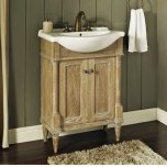 "FAIRMONT DESIGNSRustic Chic 26x17"" Euro Vanity - Weathered Oak"