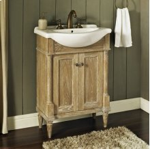 "Rustic Chic 26x17"" Euro Vanity - Weathered Oak"