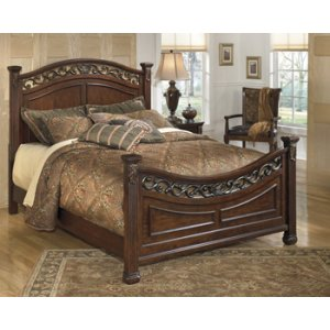 Leahlyn - Warm Brown 3 Piece Bed Set (Cal King)