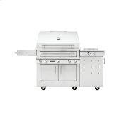 K750 Freestanding Hybrid Fire Grill with Side Burner