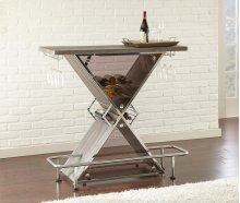 "Joanna Bar Table, Gray 47""x21""x43"""