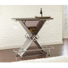 "Joanna Bar Table, Black 47""x21""x43"""
