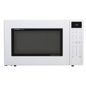 Sharp Appliances1.5 cu. ft. 900W Sharp White Carousel Convection + Microwave Oven