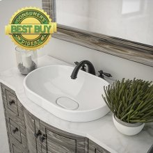 Primrose Oval Semi-recessed Vitreous China Bathroom Sink