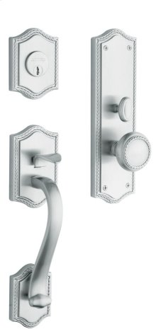 Satin Chrome Bristol Entrance Trim