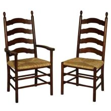 Ladderback Side Chair with Upholstered Seat