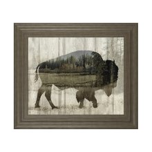 Camouflage Animals-bison By Tania Bello
