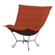 Scroll Puff Chair Coco Coral Titanium Frame