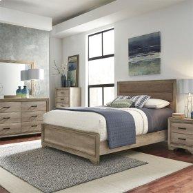 Queen Uph Bed, Dresser & Mirror, Chest, N/S