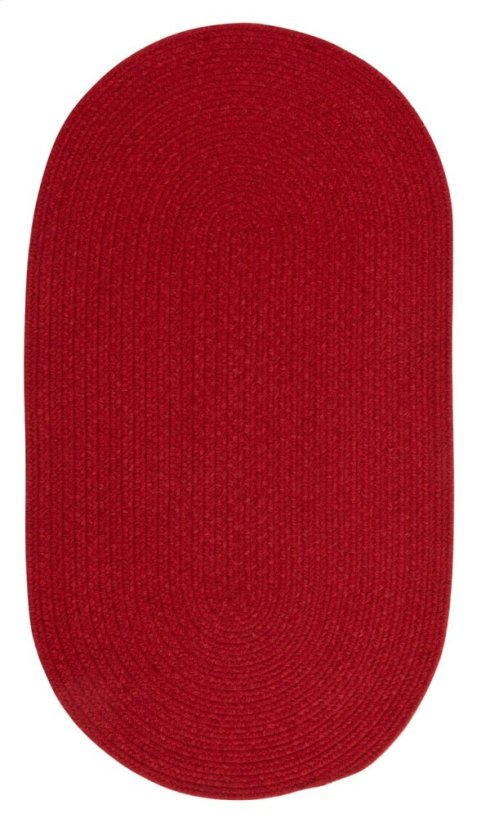 Heathered Scarlet Red Solid Braided Rugs (Custom)