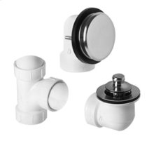 ABS Plumber's Half Kit with Deluxe Lift & Turn Trim (Designer Face Plate) - Antique Brass