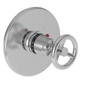 "Forever Brass - PVD 3/4"" Round Thermostatic Trim Plate with Handle"