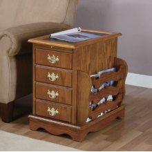 """""""Nostalgic Oak"""" Magazine Cabinet Table - overpacked"""