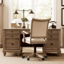 Coventry - Executive Desk - Weathered Driftwood Finish