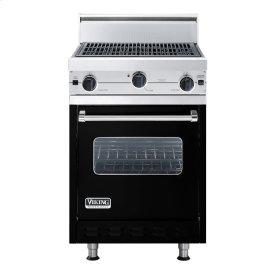 "Black 24"" Char-Grill Companion Range - VGIC (24"" wide range with char-grill, single oven)"