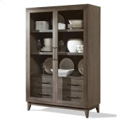 Vogue Display Cabinet Gray Wash finish Product Image