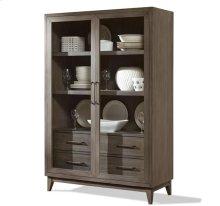 Vogue Display Cabinet Gray Wash finish