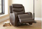 "Wyatt Power Recliner Chair, Brown, 35""x39""x40"""
