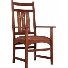 Oak Harvey Ellis Arm Chair, With Inlay