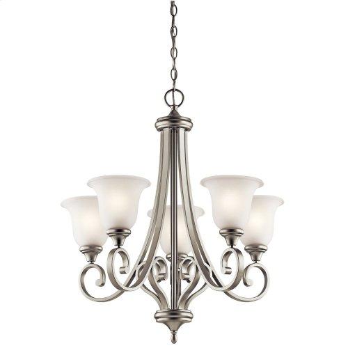 Monroe 5 Light Chandelier with LED Bulbs Brushed Nickel