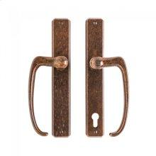 "Hammered Patio Sliding Door Set - 1 3/4"" x 11"" Silicon Bronze Brushed"