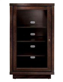 No Tools Assembly Wood Enclosed A/V Component Cabinet