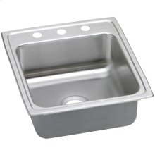 "Elkay Gourmet Stainless Steel 19-1/2"" x 22"" x 10-1/8"", Single Bowl Drop-in Sink"