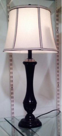 Chocolate Round Fluted Lamp
