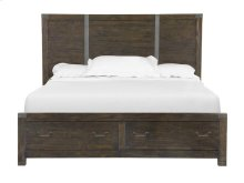 Complete Queen Panel Bed with Storage FB