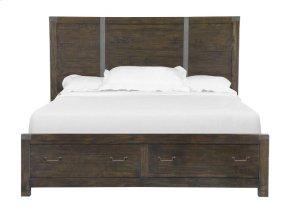Complete Queen Panel Storage Bed