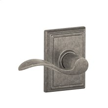 Accent Lever with Addison trim Hall & Closet Lock - Distressed Nickel
