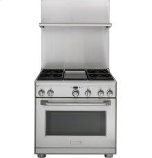 "Monogram® Professional 30""- 36"" Adjustable Height Backsplash with Warming Shelf"