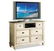 Coventry Entertainment Chest Weathered Driftwood/Dover White finish