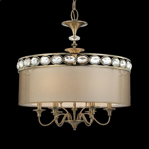9-LIGHT PENDANT - Antique Brass