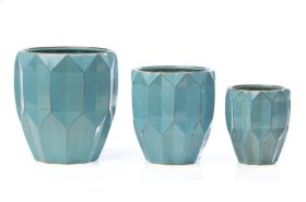 Diamant Cachepot w/ drainhole and plug - Set of 3