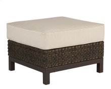 Brentwood Wicker Ottoman/upholstered Stool