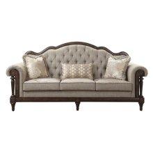 Sofa with 3 pillows