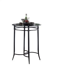 Mix N Match Bar Height Bistro Table - Ctn A - Round Metal Table Base Only - Black