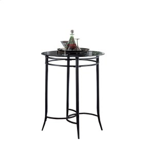 Hillsdale FurnitureMix N Match Bar Height Bistro Table - Ctn A - Round Metal Table Base Only - Black