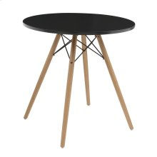 "Emerald Home Annette Dining Table-round Black Top 27.5"" D118-10-27blk-k"