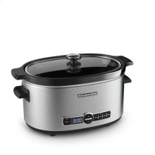 KitchenAid® 6-Quart Slow Cooker with Solid Glass Lid - Stainless Steel