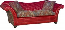 Abby Leather Fabric Sofa
