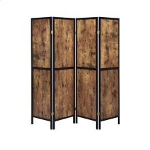 Industrial Antique Nutmeg Four-panel Screen
