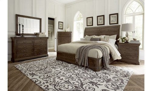 St. Germain King Platform Sleigh Bed