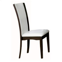 Side Chair, White Bi-Cast Vinyl