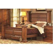 5/0 Queen Panel Bed - Antique Pine Finish