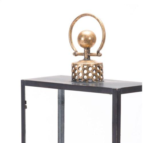 Cuadra Lantern Lg Black & Gold